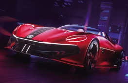 MG Cyberster concept, 2021, front