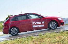 Michelin worn tyre testing