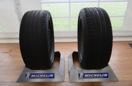 Michelin tyre testing, worn and new tyres