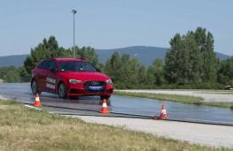 Michelin worn tyre testing, wet