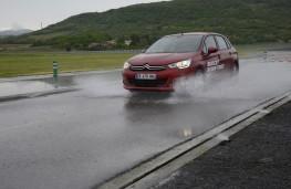 Michelin tyre testing, wet stop, Citroen C4, budget tyres