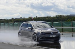 Michelin tyre testing, wet stop, VW Golf, budget tyres