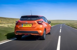 Nissan Micra, 2017, rear, action
