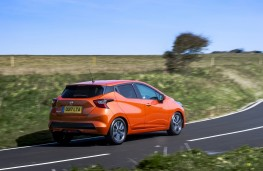 Nissan Micra, 2017, side, action