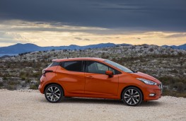 Nissan Micra, 2017, side, static