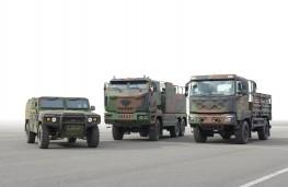 Kia military vehicles, line up
