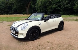 MINI Cooper Convertible, front, roof down