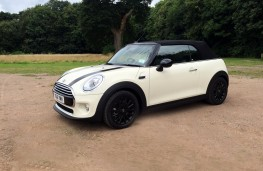 MINI Cooper Convertible, side, roof up