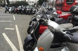 Motorbikes parked