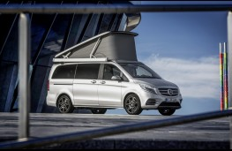 Mercedes-Benz V-Class Marco Polo, 2017, side, roof up