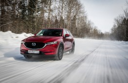 Mazda CX-5, Siberia, 2018, front, action