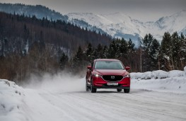 Mazda CX-5, Siberia, 2018, ice, road