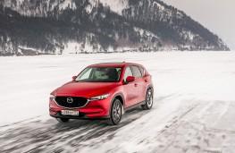 Mazda CX-5, Siberia, 2018, lake, front