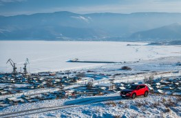 Mazda CX-5, Siberia, 2018, above Lake Baikal