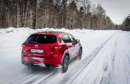 Mazda CX-5, Siberia, 2018, rear, action