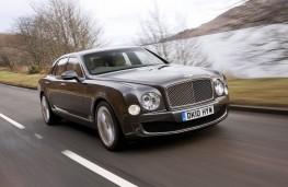 Bentley Mulsanne, front, action