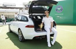 Andy Murray with Jaguar XF Sportbrake