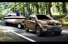 SsangYong Musso, 2017, towing boat