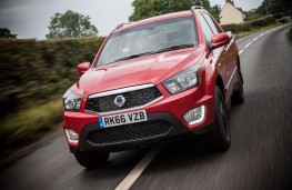 SsangYong Musso pick-up, 2016, front, action