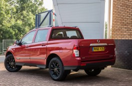 SsangYong Musso pick-up, 2016, rear, static