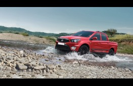 SsangYong Musso pick-up, 2016, side, action