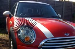Car lashes on MINI