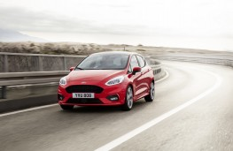 Ford Fiesta ST-Line, 2017, front, action