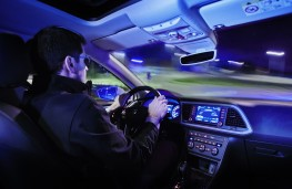 Night driving, interior