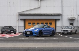 Nissan GT-R 50th Anniversary edition with previous models