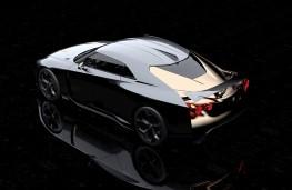 Nissan GT-R50 by Italdesign rear overhead