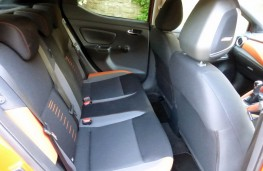 Nissan Micra, rear seats