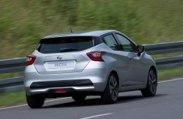 Nissan Micra 2017 rear action