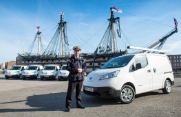 Nissan e-NV200 Combi, with Commodore Jeremy Rigby, Portsmouth Naval Base commander
