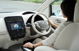 Nissan Leaf, interior, driven