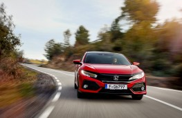 Honda Civic, 2017, front, action