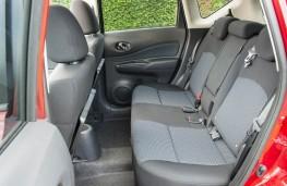 Nissan Note, rear seats