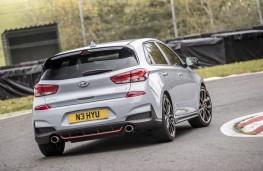 Hyundai i30 N Performance, 2017, rear, action, track