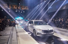Skoda Octavia Estate, reveal, 2019, catwalk