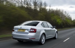 Skoda Octavia, 2017, rear, action