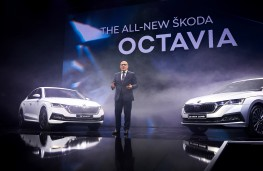 Skoda Octavia reveal, 2019, with Bernhard Maier