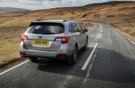 Subaru Outback, rear, action