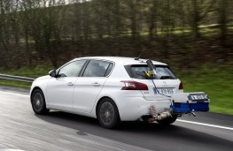 Peugeot 308 undergoing Real Driving Emissions test