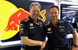 Andy Palmer, CEO Aston Martin (left), Christian Horner, team principal, Red Bull F1