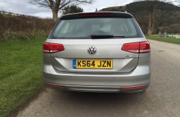 VW Passat estate, rear