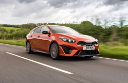 Kia ProCeed GT, 2019, front, action