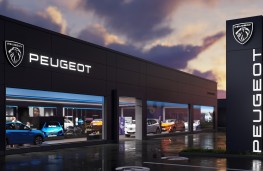 Peugeot dealership with new logo, 2021
