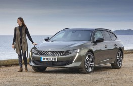 Peugeot 508 SW, front with model 2