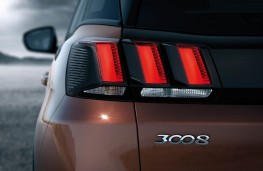Peugeot 3008 SUV, rear lights