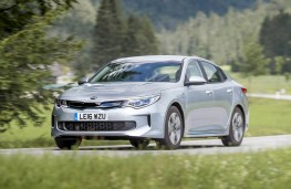 Kia Optima PHEV, front, action