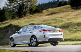 Kia Optima PHEV, rear, action